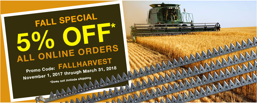 Save 5% with the Fall Harvest Sale