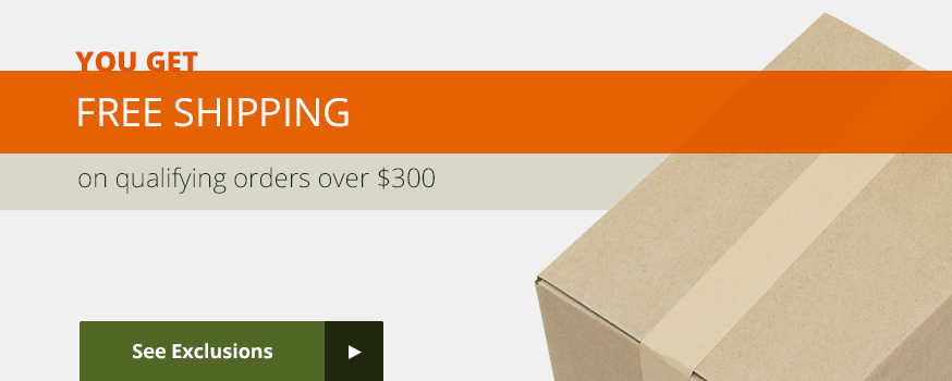 You get Free Shipping on qualifying orders over $300.